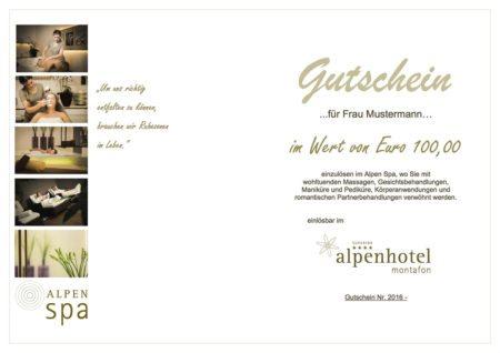 Alpenhotel Montafon - Voucher & Gutscheine
