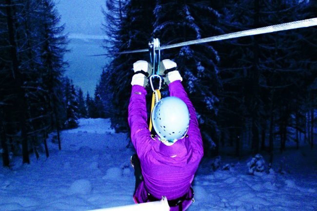 Flying Fox - Winterurlaub im Montafon