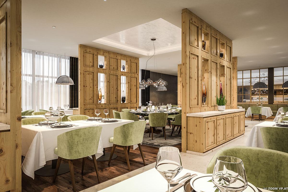 Restaurant im Luxushotel in Schruns, Alpenhotel Montafon