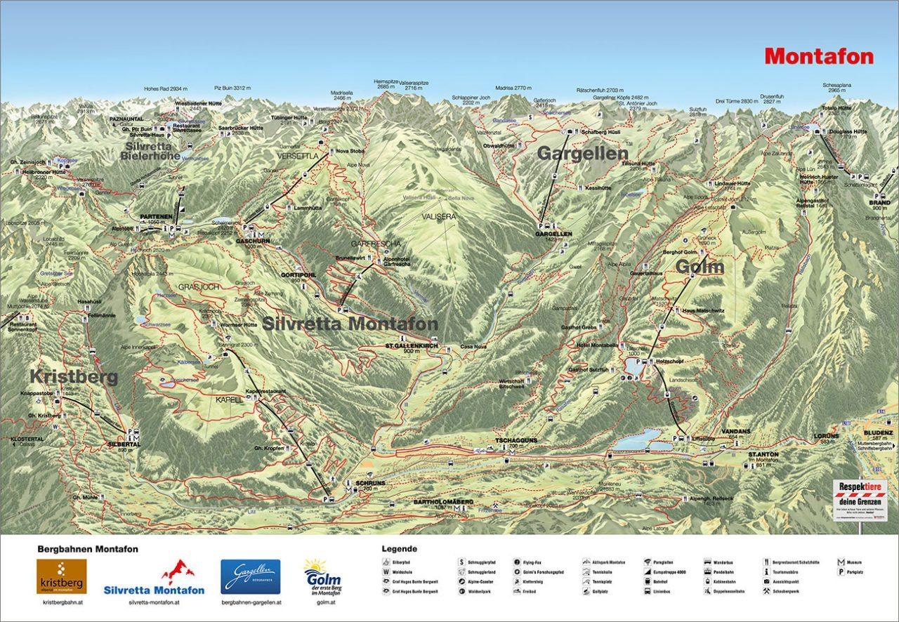 Panoramakarte - Montafon