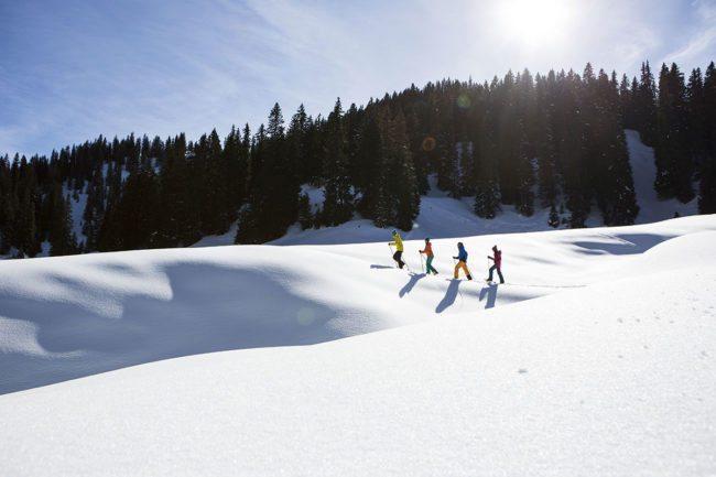 Schneeschuhwandern - Winterurlaub im Montafon