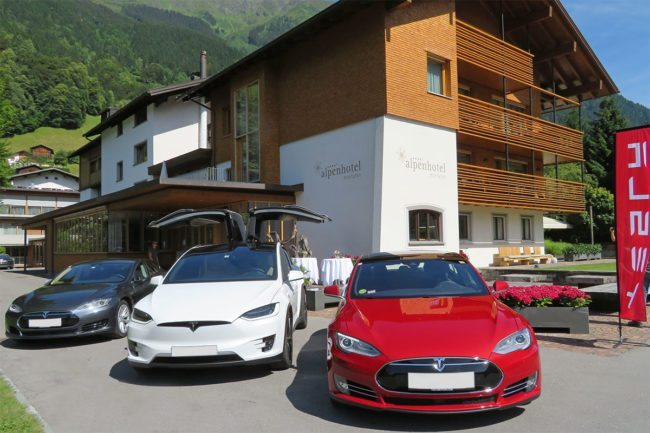 Tesla im Alpenhotel Montafon in Schruns